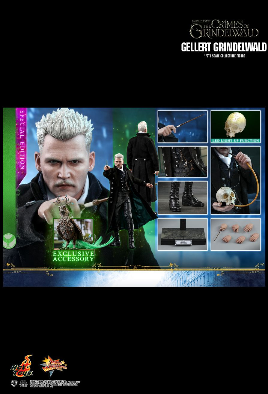 NEW PRODUCT: HOT TOYS: FANTASTIC BEASTS: THE CRIMES OF GRINDELWALD GELLERT GRINDELWALD 1/6TH SCALE COLLECTIBLE FIGURE 2626