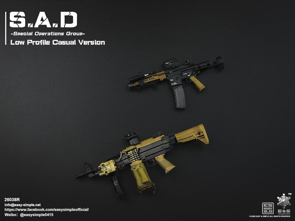 ModernMilitary - NEW PRODUCT: Easy&Simple: 26038R 1/6 Scale S.A.D Special Operation Group action figure 2648