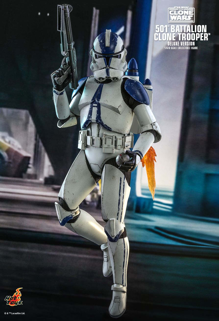 hottoys - NEW PRODUCT: HOT TOYS: STAR WARS: THE CLONE WARS™ 501ST BATTALION CLONE TROOPER™ (DELUXE VERSION) 1/6TH SCALE COLLECTIBLE FIGURE 2658