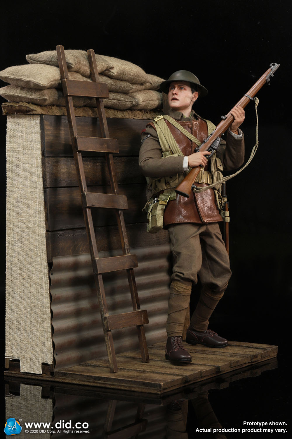 military - NEW PRODUCT: DiD: B11011 WWI British Infantry Lance Corporal William & Trench Diorama Set (UPDATED INFORMATION) 2665