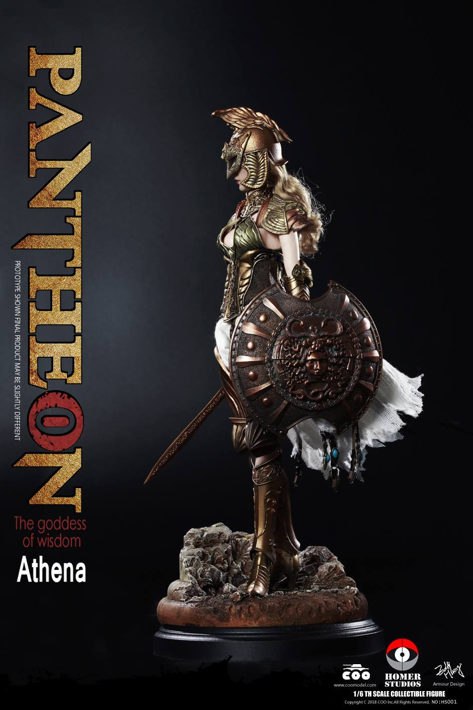 "NEW PRODUCT: COO MODEL X HOMER 1/6th scale PANTHEON Athena Goddess of War 12"" Collectible Figure 269"