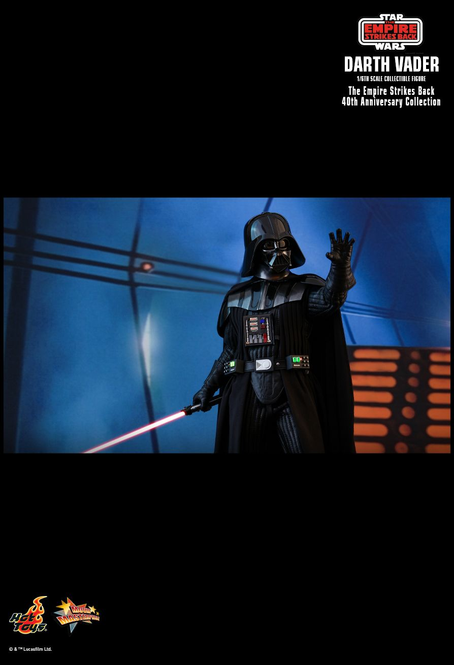 StarWars - NEW PRODUCT: HOT TOYS: STAR WARS: THE EMPIRE STRIKES BACK™ DARTH VADER™ (40TH ANNIVERSARY COLLECTION) 1/6TH SCALE COLLECTIBLE FIGURE 2739