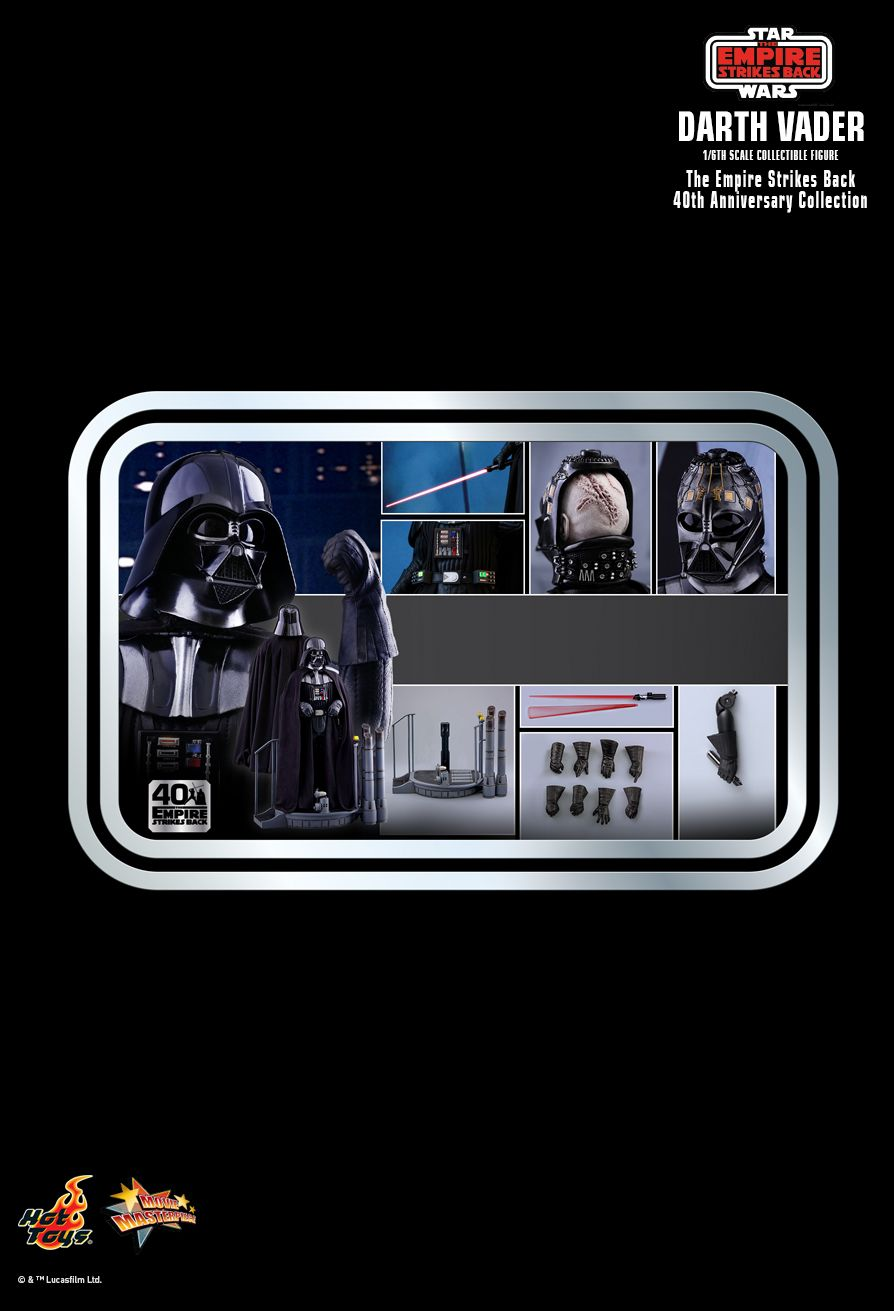 40thAnniversaryCollection - NEW PRODUCT: HOT TOYS: STAR WARS: THE EMPIRE STRIKES BACK™ DARTH VADER™ (40TH ANNIVERSARY COLLECTION) 1/6TH SCALE COLLECTIBLE FIGURE 2835