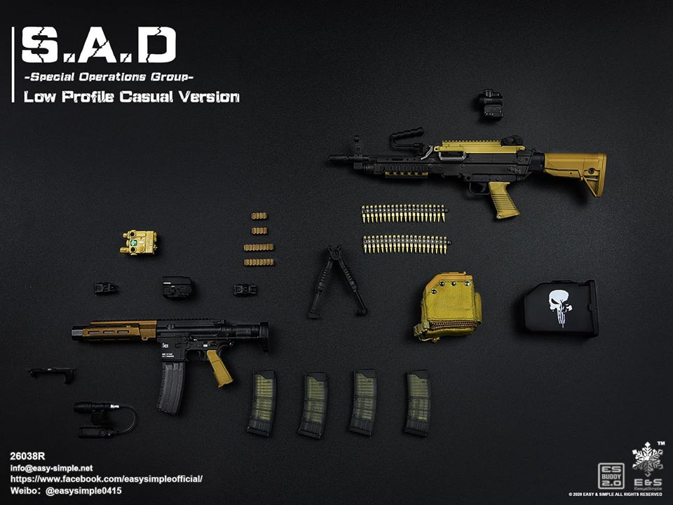 ModernMilitary - NEW PRODUCT: Easy&Simple: 26038R 1/6 Scale S.A.D Special Operation Group action figure 2836