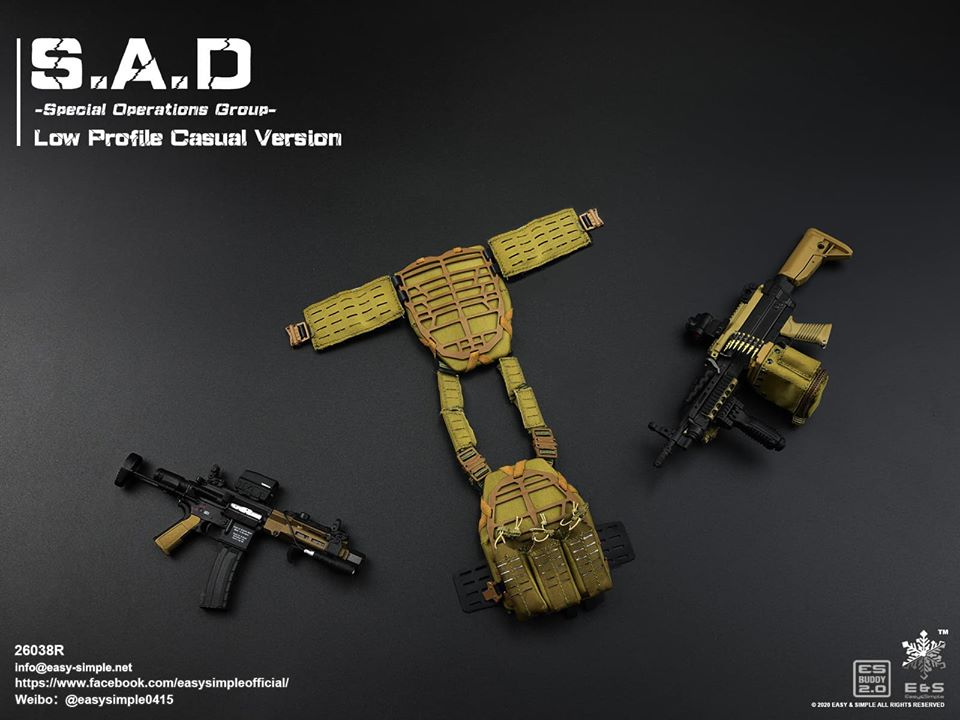 ModernMilitary - NEW PRODUCT: Easy&Simple: 26038R 1/6 Scale S.A.D Special Operation Group action figure 2930