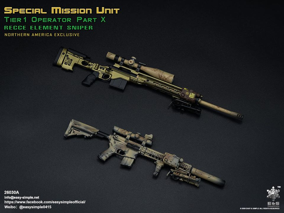 PartX - NEW PRODUCT: EASY AND SIMPLE: SPECIAL MISSION UNIT PART X RECCE ELEMENT SNIPER 2020 - 1/6 SCALE FIGURE 2932