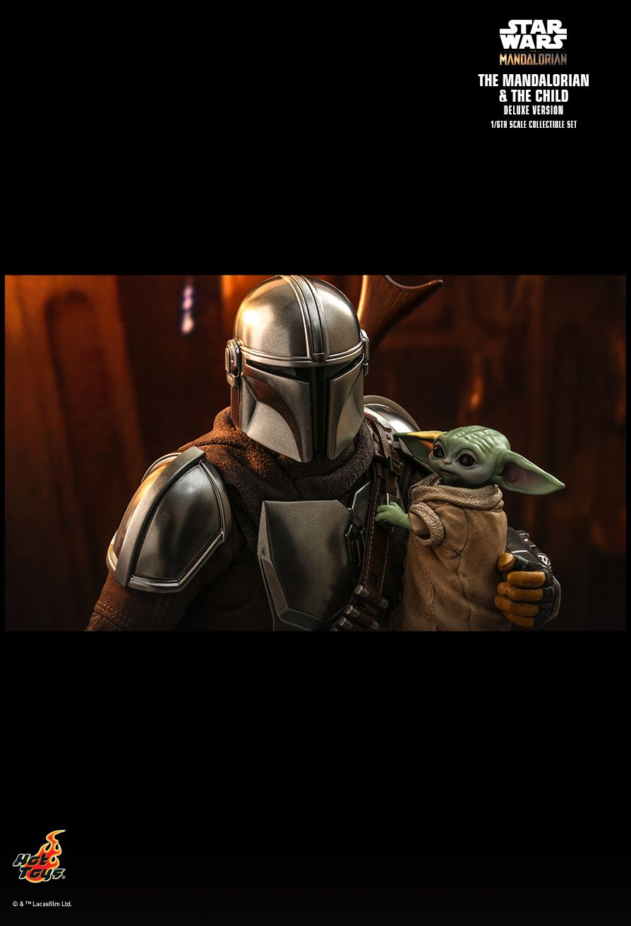 Sci-Fi - NEW PRODUCT: HOT TOYS: THE MANDALORIAN THE MANDALORIAN AND THE CHILD 1/6TH SCALE COLLECTIBLE SET (Standard and Deluxe) 2ec6a210