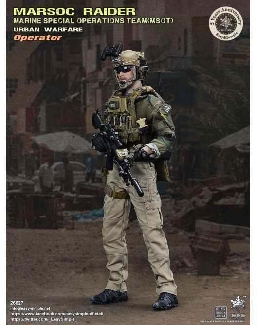 NEW PRODUCT: Easy & Simple 26027 1/6 Scale MARSOC Raider Urban Warfare Operator 3-528x10