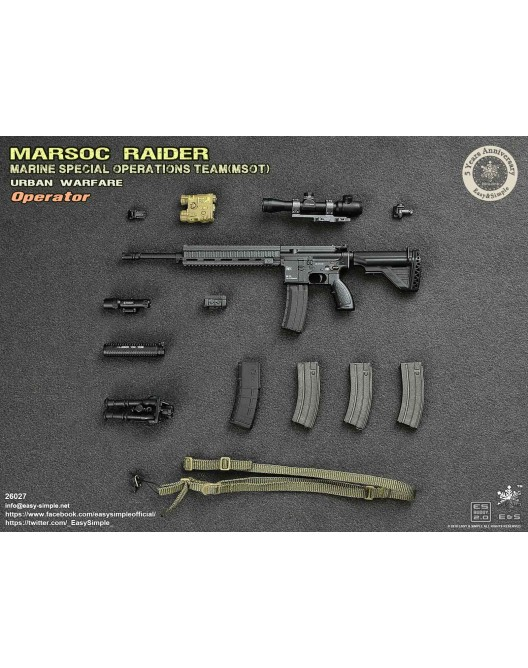 NEW PRODUCT: Easy & Simple 26027 1/6 Scale MARSOC Raider Urban Warfare Operator 31-52810