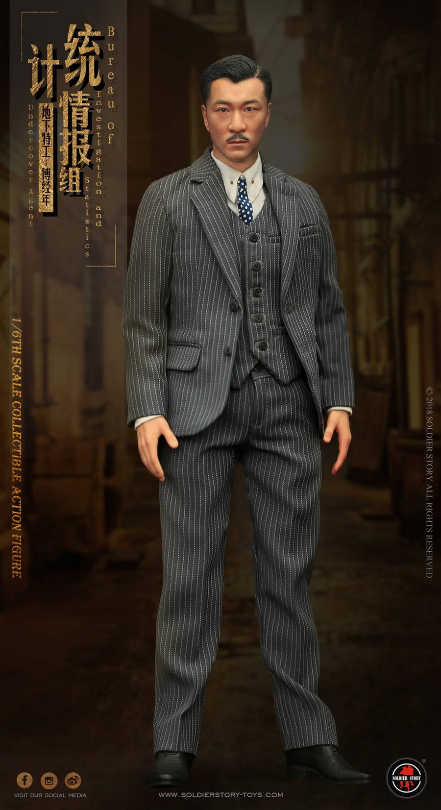 SoldierStory - NEW PRODUCT: SoldierStory new product: 1/6 World War II statistical intelligence group underground agent Fu Jingian - Shanghai 1942 (SS113#) 3101