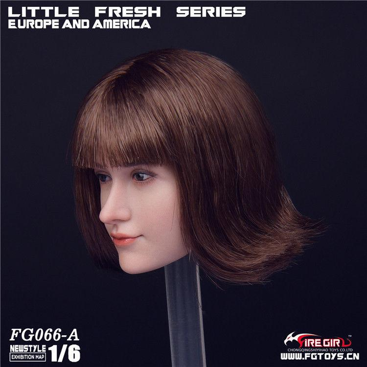 NEW PRODUCT: 1/6 Scale Fire Girl Toys FG066 Sweetheart Female Head Sculpt H#pale (3 versions) 3106