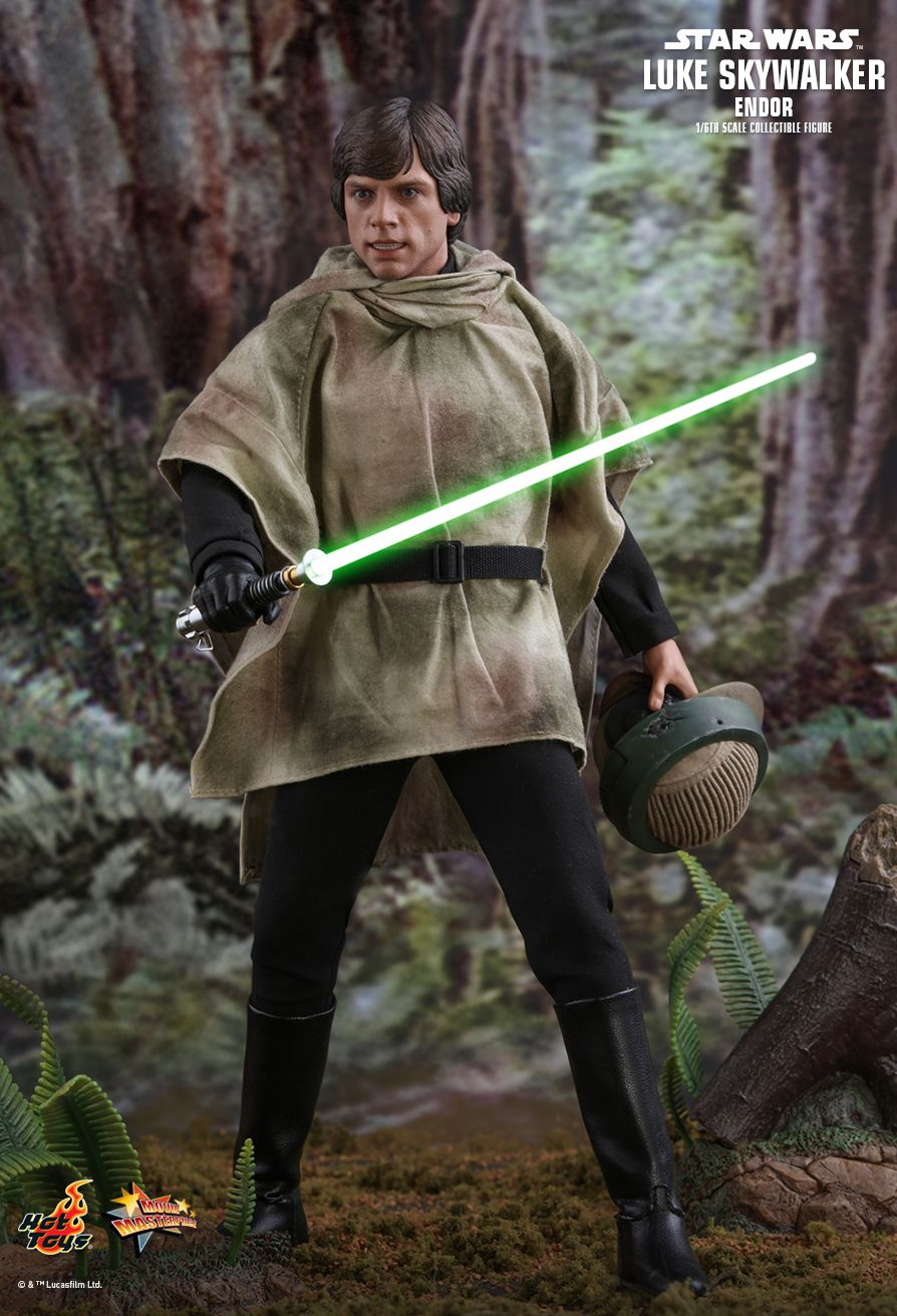 returnofthejedi - NEW PRODUCT: HOT TOYS: STAR WARS: RETURN OF THE JEDI LUKE SKYWALKER (ENDOR) 1/6TH SCALE COLLECTIBLE FIGURE 3129