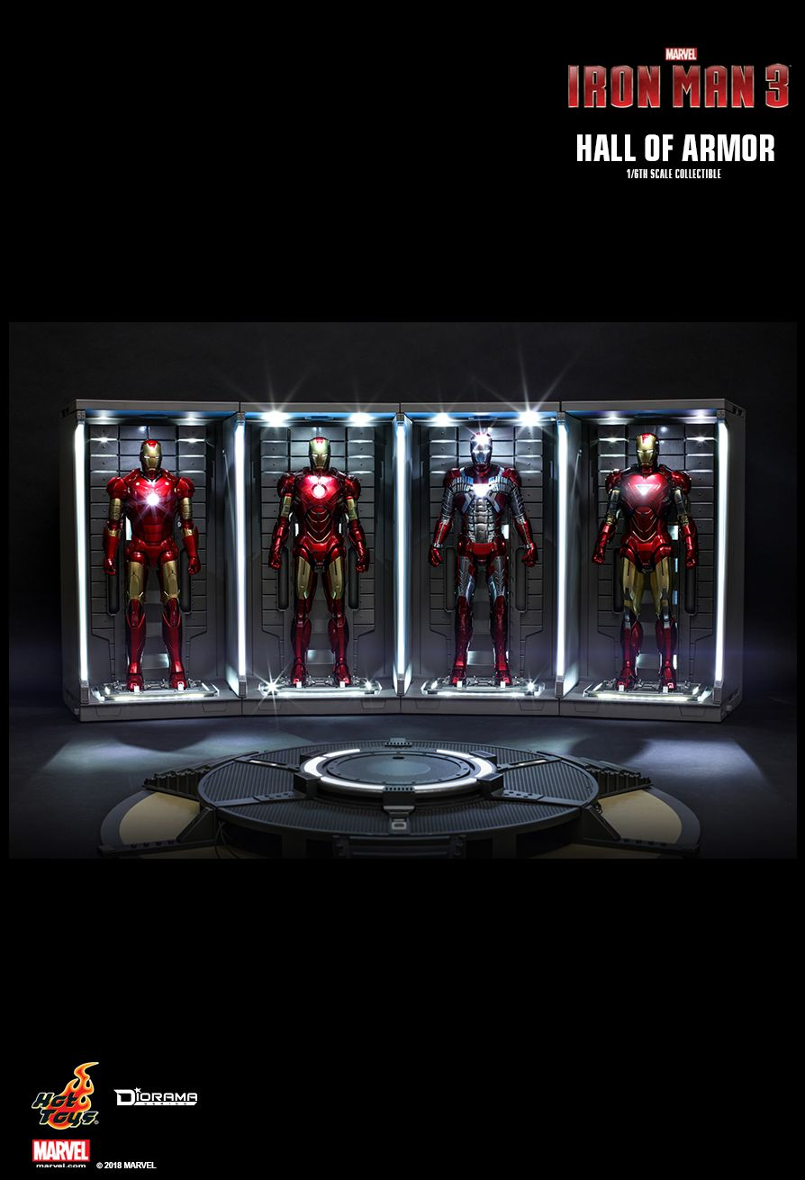 diorama - NEW PRODUCT: HOT TOYS: IRON MAN 2 HALL OF ARMOR 1/6TH SCALE COLLECTIBLE 3133