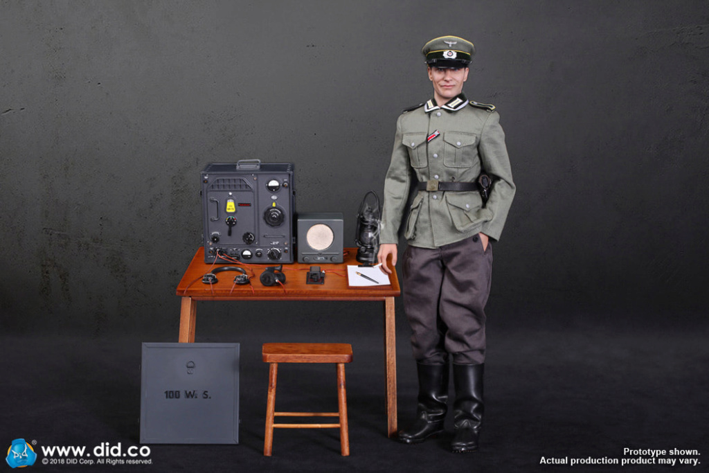 DiD - NEW PRODUCT: Gerd - WH Radio Operator - WWII German Communications Series 3 - DiD 1/6 Scale Figure 3134