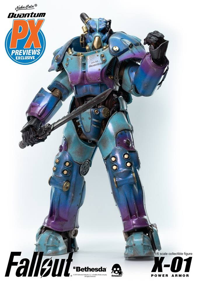 "Fallout - NEW PRODUCT: Three Zero Exclusive 1/6th scale X-01 ""Quantum"" Power Armor 14.5-inch Figure Set 3141"