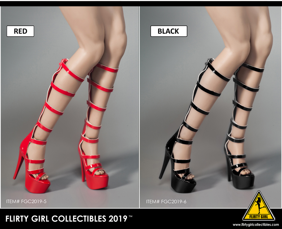 highheels - NEW PRODUCT: FLIRTY GIRL COLLECTIBLES 2019: 1 / 6 women's high heels four Fashion Boots & FGC2019-9 and -10 women's shoes 3177