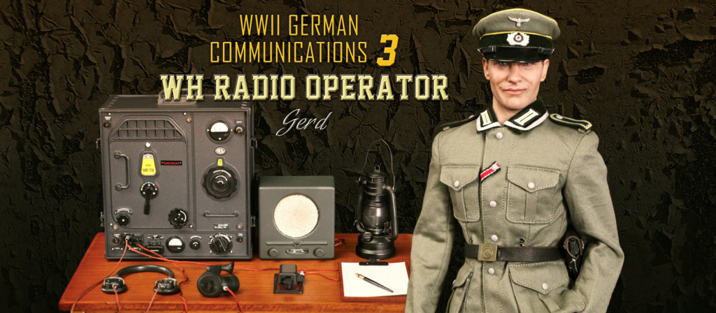 DiD - NEW PRODUCT: Gerd - WH Radio Operator - WWII German Communications Series 3 - DiD 1/6 Scale Figure 3215