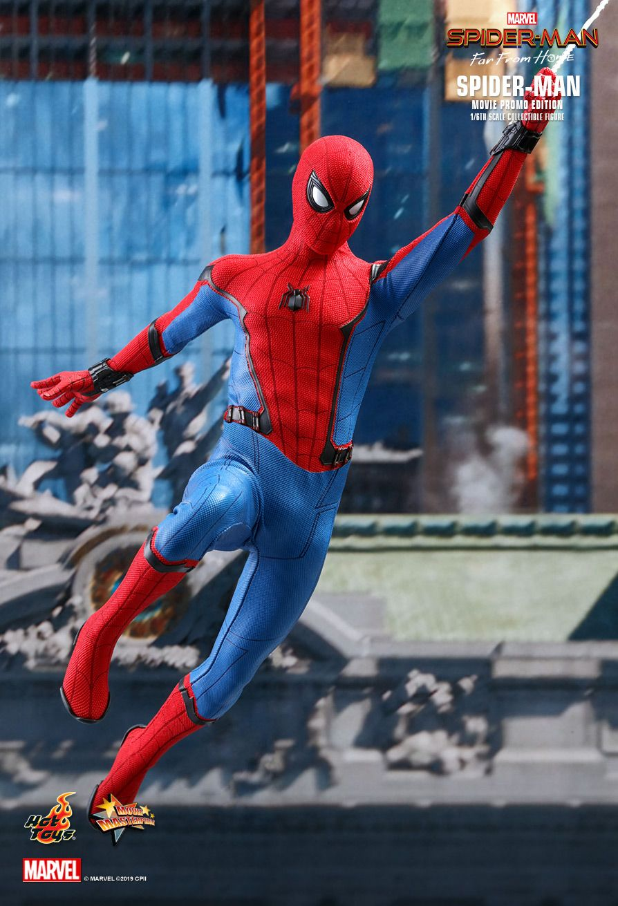 NEW PRODUCT: HOT TOYS: SPIDER-MAN: FAR FROM HOME SPIDER-MAN (MOVIE PROMO EDITION) 1/6TH SCALE COLLECTIBLE FIGURE 3238
