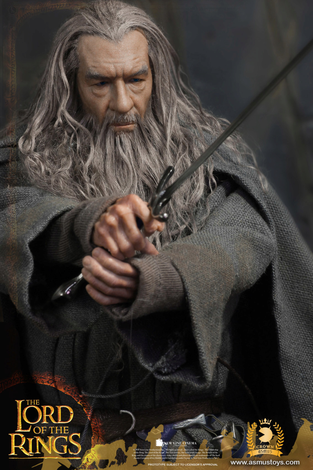 NEW PRODUCT: ASMUS TOYS THE CROWN SERIES : GANDALF THE GREY 1/6 figure 3257