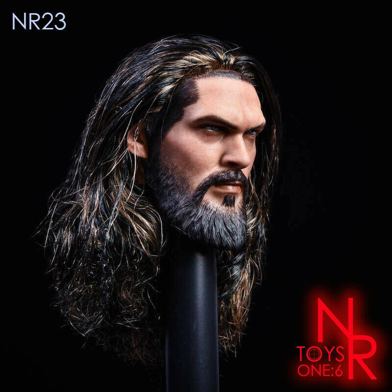 NEW PRODUCT: NRTOYS: NR23 1/6 scale Sea Prince Jason Momoa Head Sculpt HW/O Neck 3264