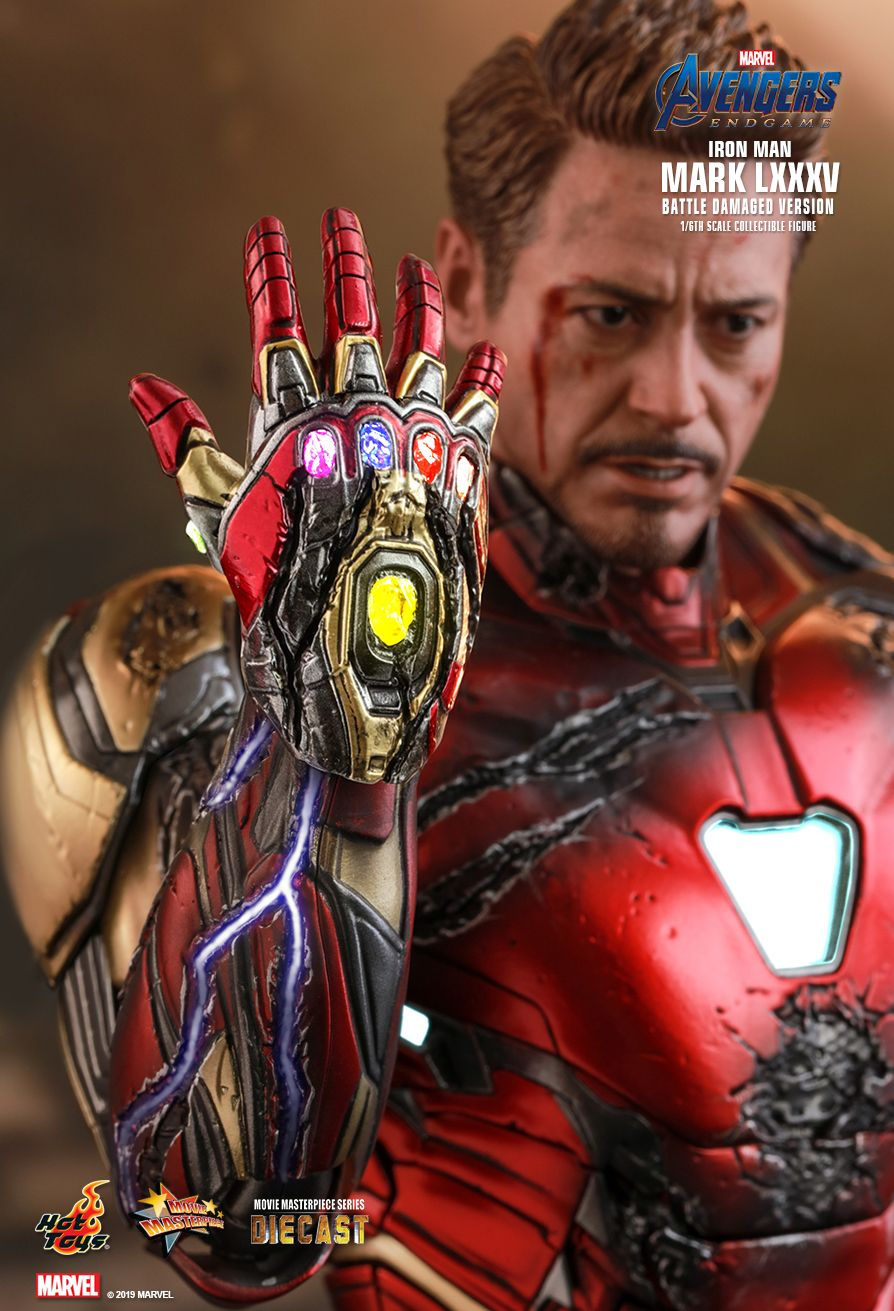 marvel - NEW PRODUCT: HOT TOYS: AVENGERS: ENDGAME IRON MAN MARK LXXXV (BATTLE DAMAGED VERSION) 1/6TH SCALE COLLECTIBLE FIGURE 3274