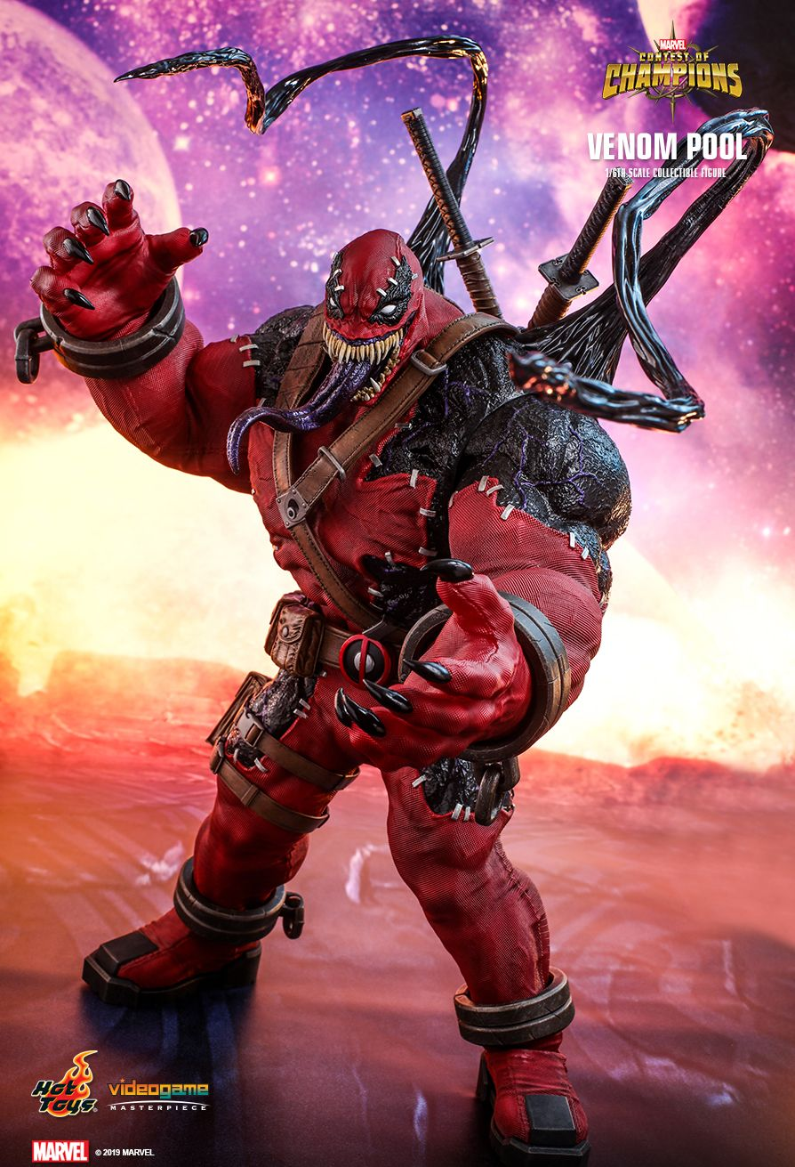 NEW PRODUCT: HOT TOYS: MARVEL CONTEST OF CHAMPIONS VENOMPOOL 1/6TH SCALE COLLECTIBLE FIGURE 3277