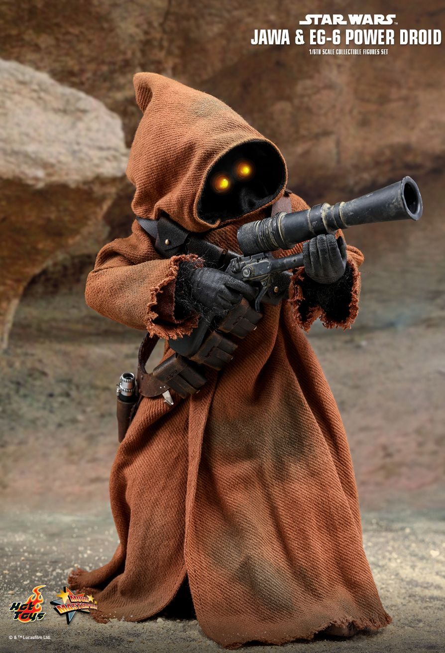 NEW PRODUCT: HOT TOYS: STAR WARS: EPISODE IV A NEW HOPE JAWA & EG-6 POWER DROID 1/6TH SCALE COLLECTIBLE SET 3298