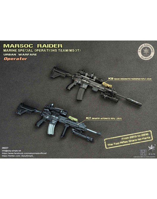 NEW PRODUCT: Easy & Simple 26027 1/6 Scale MARSOC Raider Urban Warfare Operator 33-52810