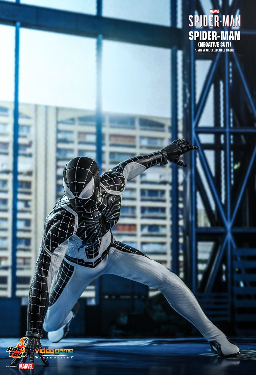 Spider-Man - NEW PRODUCT: HOT TOYS: MARVEL'S SPIDER-MAN SPIDER-MAN (NEGATIVE SUIT) 1/6TH SCALE COLLECTIBLE FIGURE (EXCLUSIVE EDITION) 3318