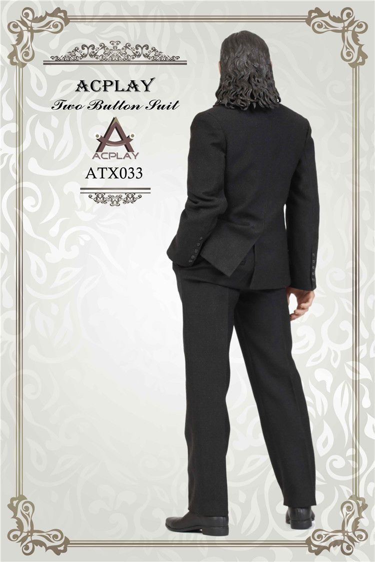 NEW PRODUCT: ACPLAY ATX033 1/6 Scale Men's Black Business Suit Set 335