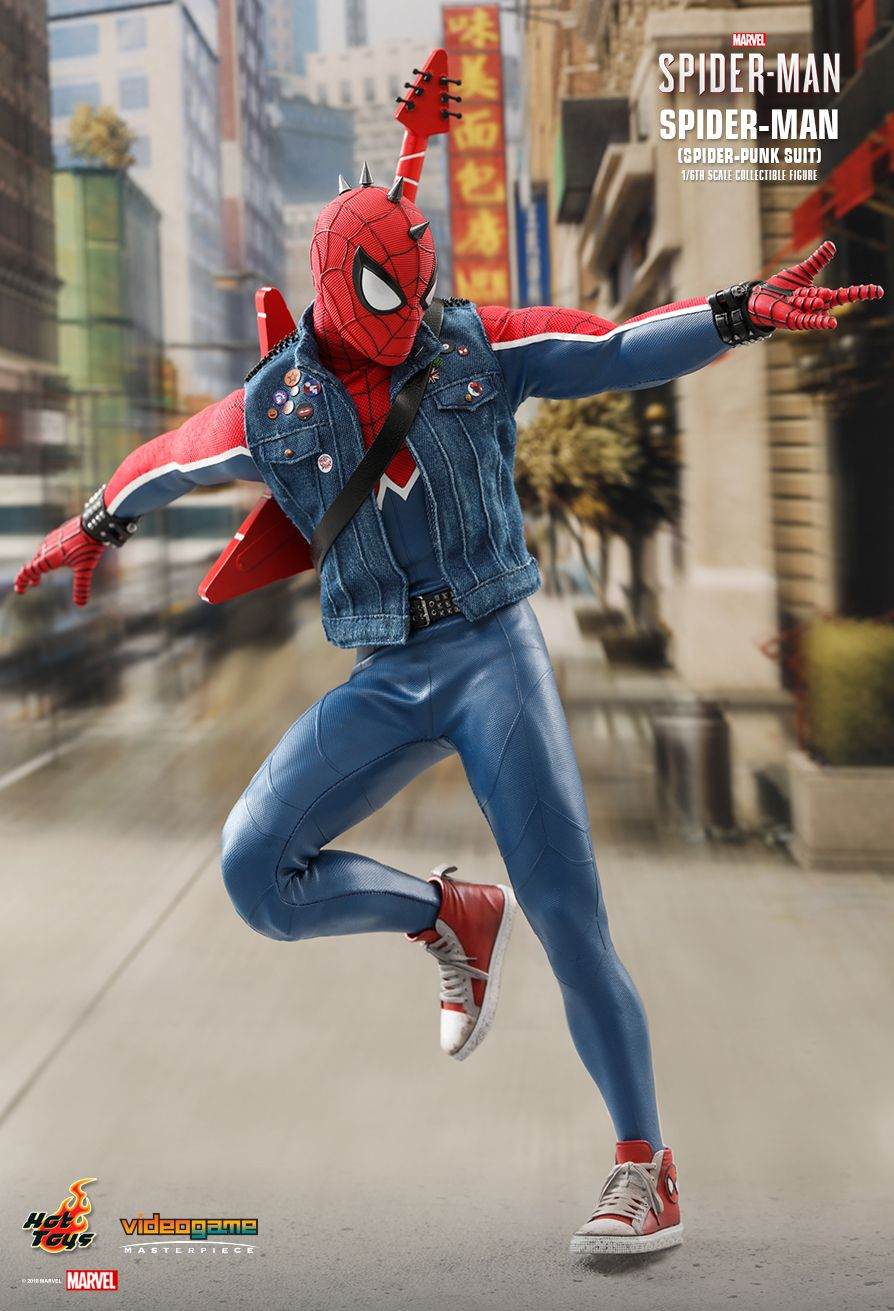 Spider-Punk - NEW PRODUCT: Hot Toys: MARVEL'S SPIDER-MAN SPIDER-MAN (SPIDER-PUNK SUIT) 1/6TH SCALE COLLECTIBLE FIGURE 339