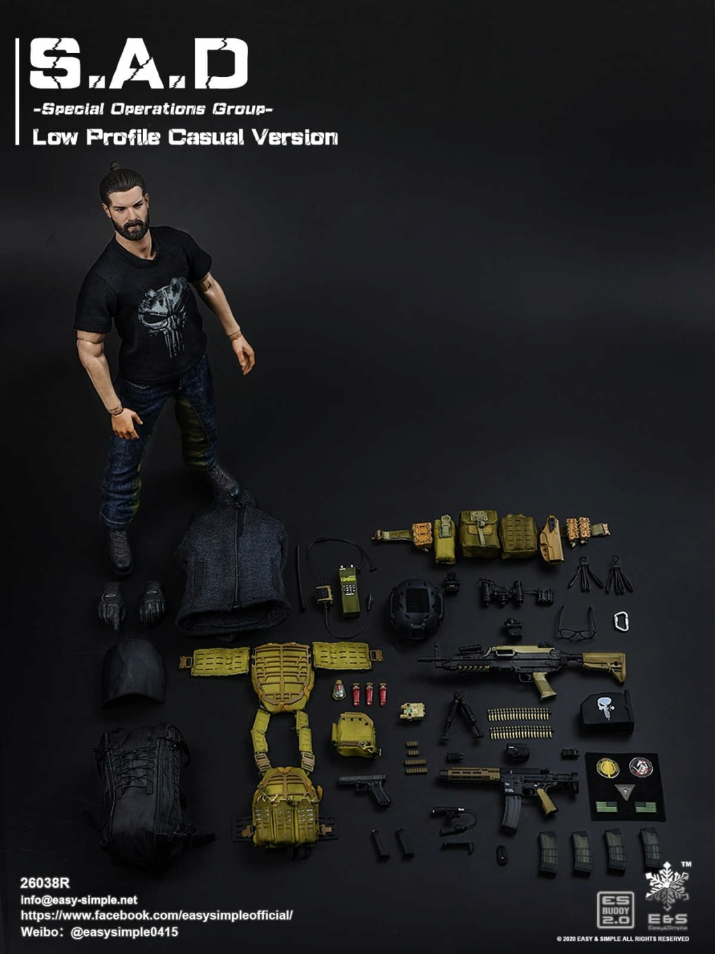ModernMilitary - NEW PRODUCT: Easy&Simple: 26038R 1/6 Scale S.A.D Special Operation Group action figure 3392
