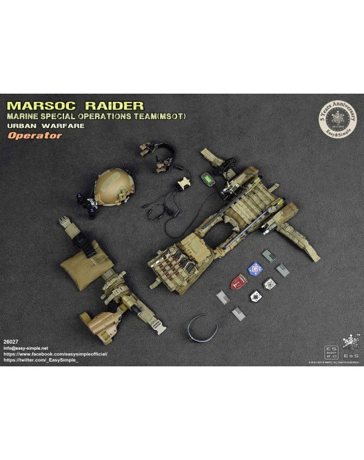 NEW PRODUCT: Easy & Simple 26027 1/6 Scale MARSOC Raider Urban Warfare Operator 34-52810