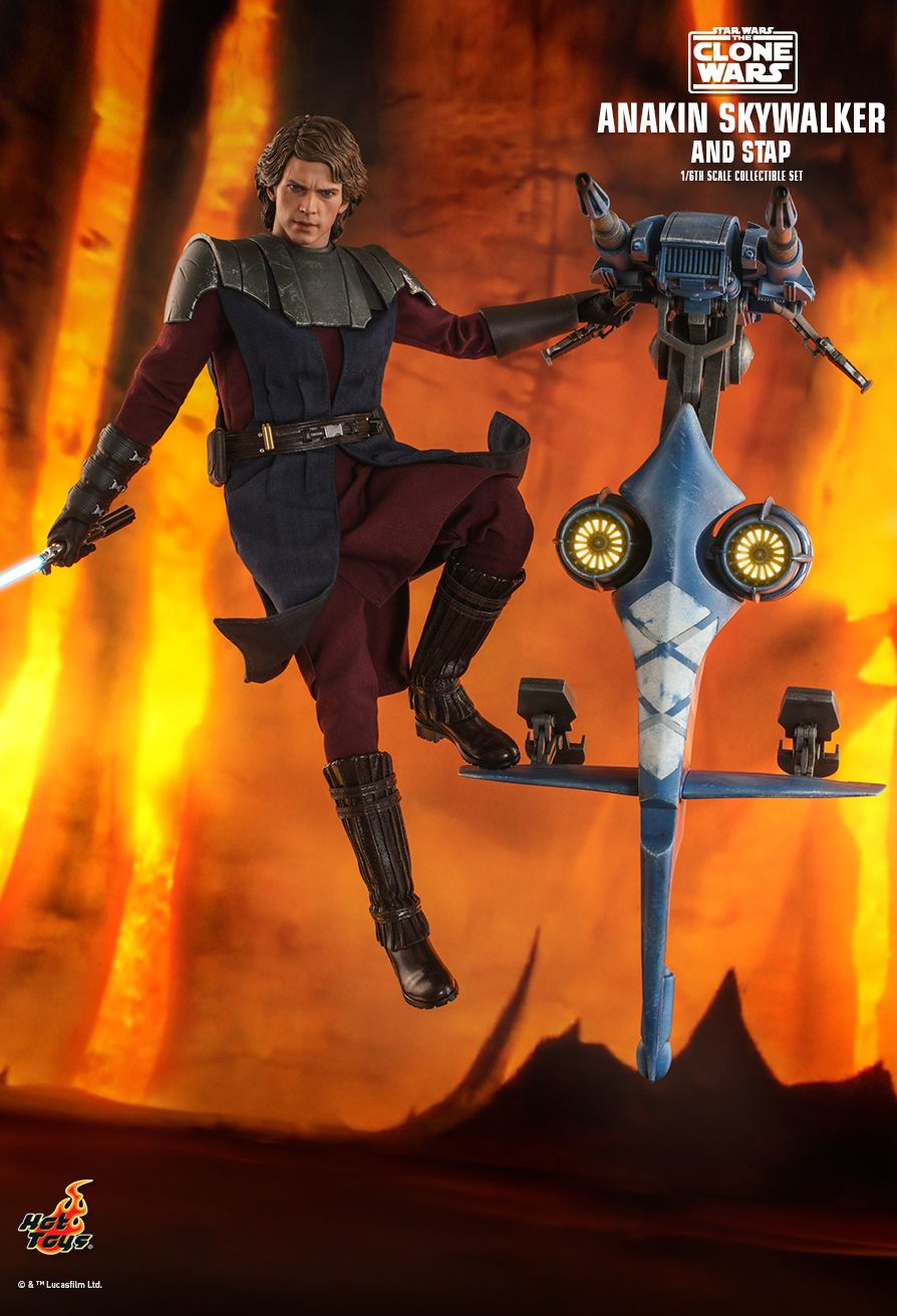 Sci-Fi - NEW PRODUCT: HOT TOYS: STAR WARS: THE CLONE WARS ANAKIN SKYWALKER AND STAP 1/6TH SCALE COLLECTIBLE SET 3404