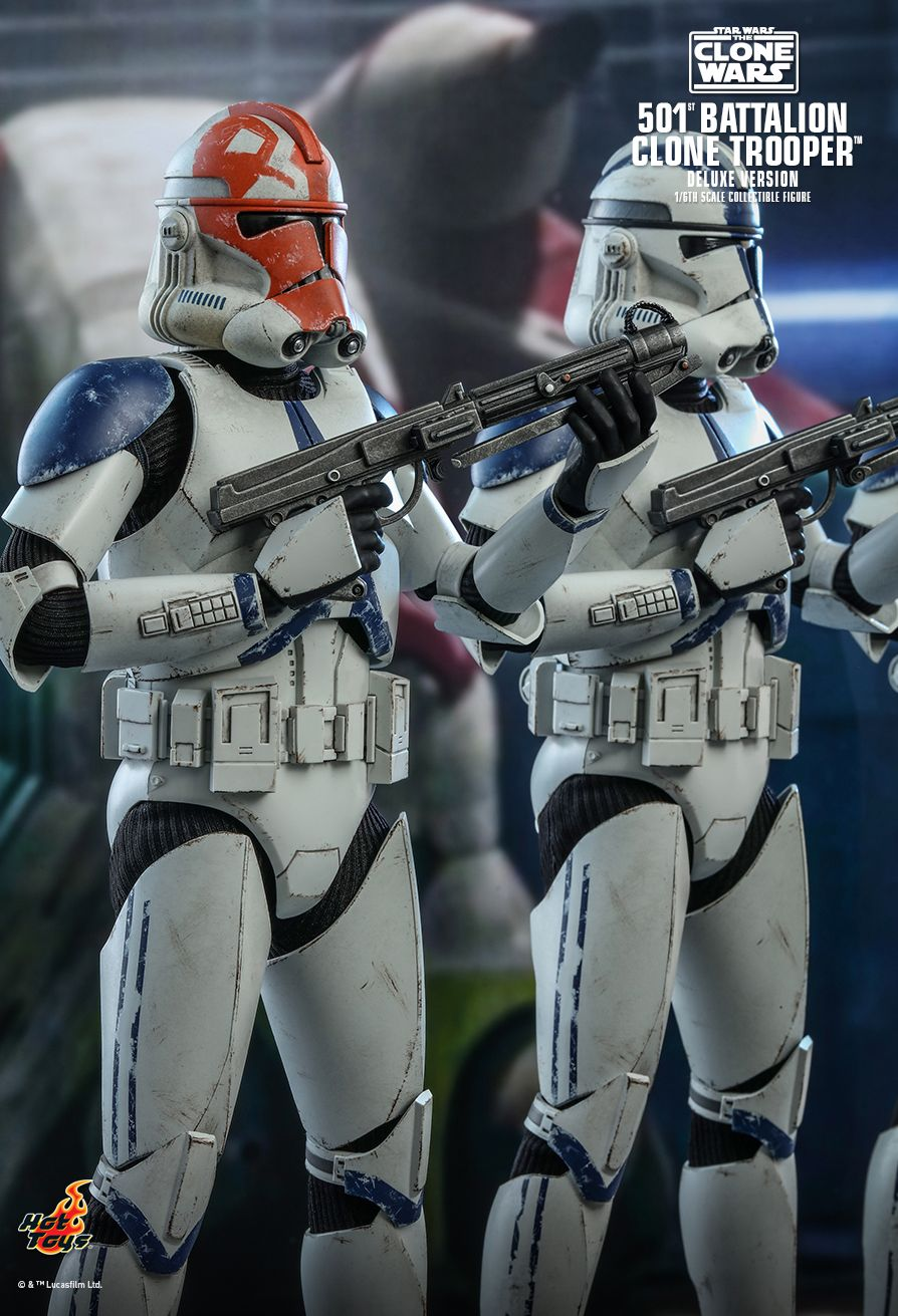 hottoys - NEW PRODUCT: HOT TOYS: STAR WARS: THE CLONE WARS™ 501ST BATTALION CLONE TROOPER™ (DELUXE VERSION) 1/6TH SCALE COLLECTIBLE FIGURE 3433