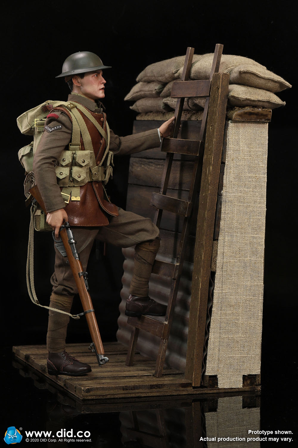 military - NEW PRODUCT: DiD: B11011 WWI British Infantry Lance Corporal William & Trench Diorama Set (UPDATED INFORMATION) 3440