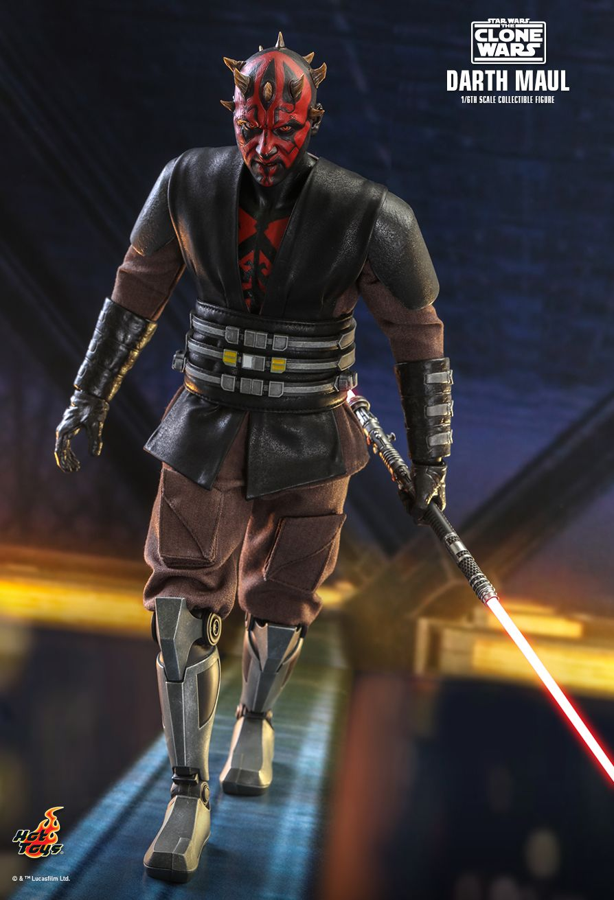 Sci-Fi - NEW PRODUCT: HOT TOYS: STAR WARS: THE CLONE WARS™ DARTH MAUL™ 1/6TH SCALE COLLECTIBLE FIGURE 3444