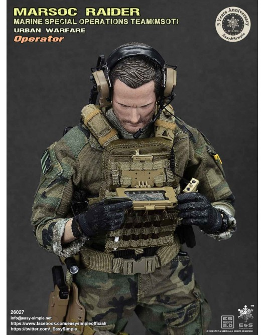 NEW PRODUCT: Easy & Simple 26027 1/6 Scale MARSOC Raider Urban Warfare Operator 35-52810