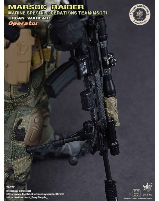 NEW PRODUCT: Easy & Simple 26027 1/6 Scale MARSOC Raider Urban Warfare Operator 36-52810