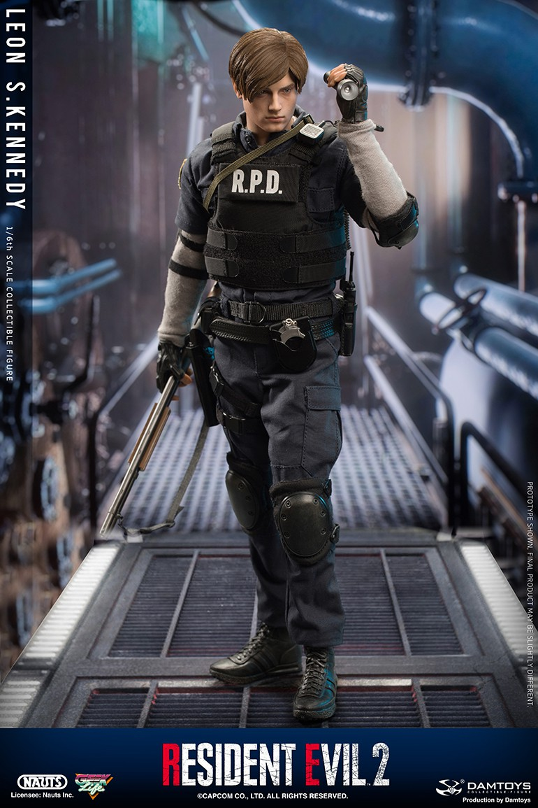 "Sci-Fi - NEW PRODUCT: NAUTS & DAMTOYS: 1/6 ""Resident Evil 2""-LEON S.KENNEDY/Lyon S. Kennedy remake #DMS030  360b7510"