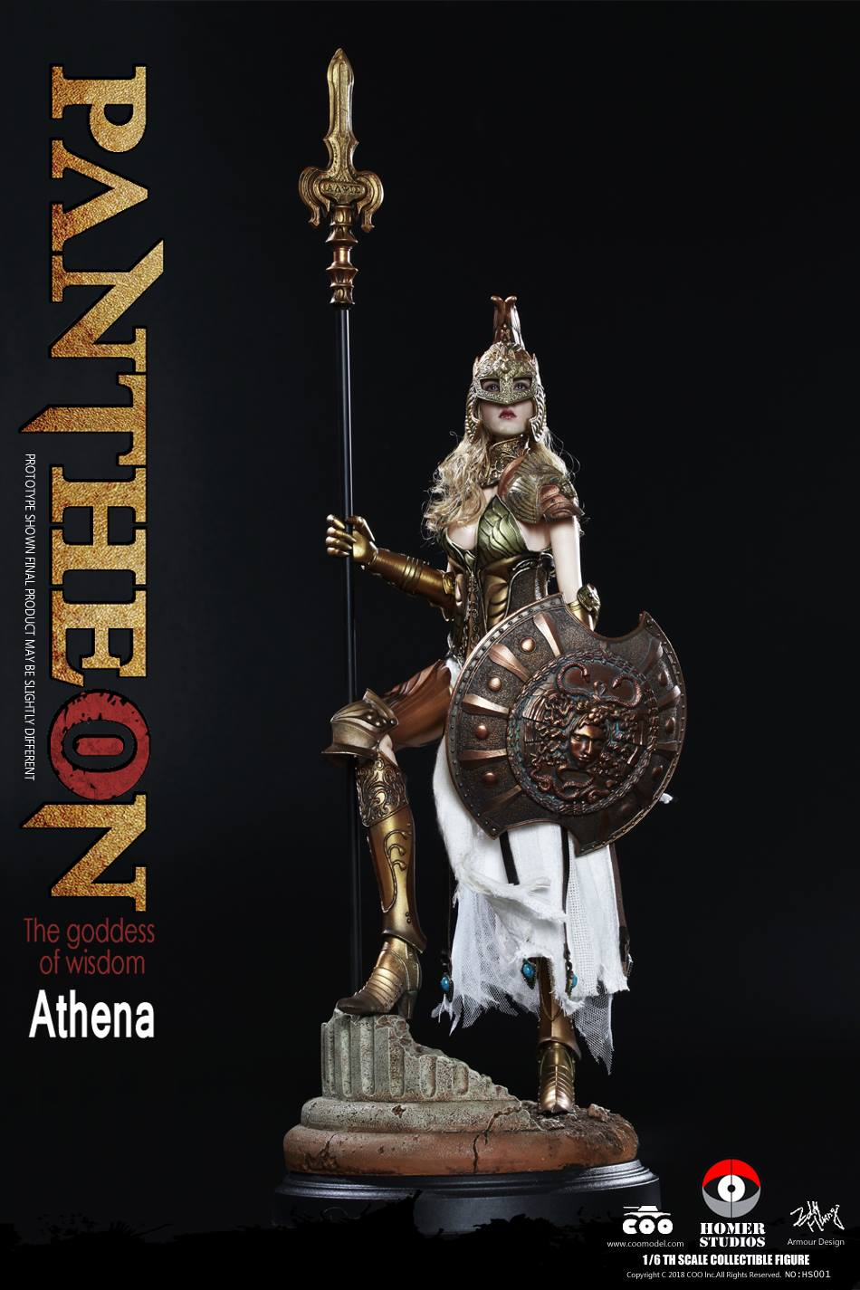 "NEW PRODUCT: COO MODEL X HOMER 1/6th scale PANTHEON Athena Goddess of War 12"" Collectible Figure 369"
