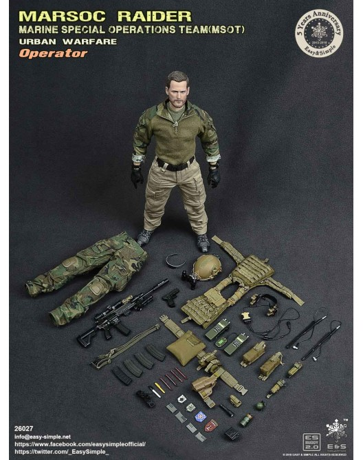 NEW PRODUCT: Easy & Simple 26027 1/6 Scale MARSOC Raider Urban Warfare Operator 38-52810