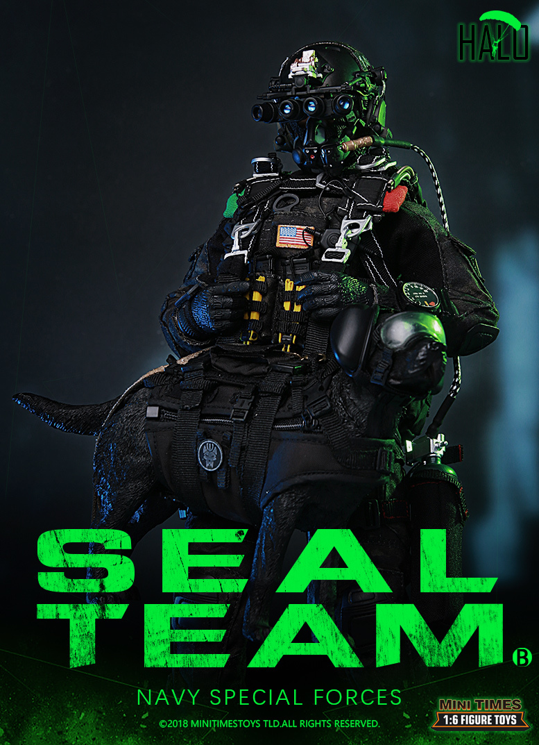 "Dog - NEW PRODUCT: MINI TIMES TOYS US NAVY SEAL TEAM SPECIAL FORCES ""HALO"" 1/6 SCALE ACTION FIGURE MT-M013 398"