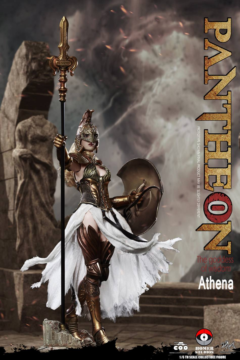 "NEW PRODUCT: COO MODEL X HOMER 1/6th scale PANTHEON Athena Goddess of War 12"" Collectible Figure 3a-110"