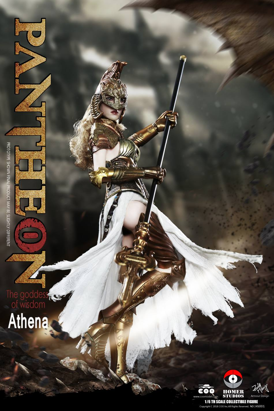 "NEW PRODUCT: COO MODEL X HOMER 1/6th scale PANTHEON Athena Goddess of War 12"" Collectible Figure 3b12"
