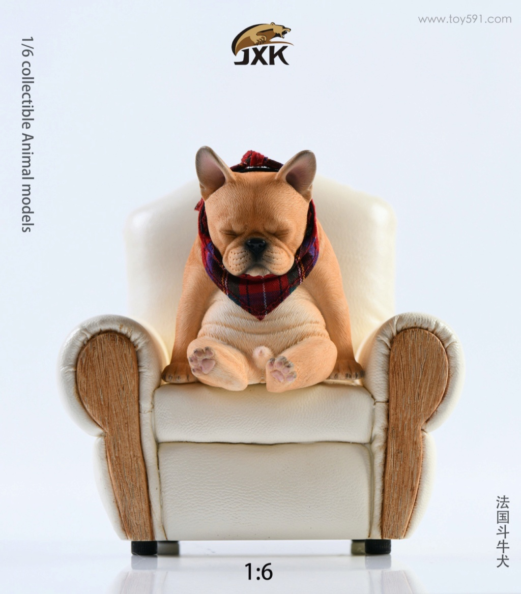 Dog - NEW PRODUCT: JXK 1/6 Decadent Dog JXK045 French Bulldog + Scarf 3ecc9010