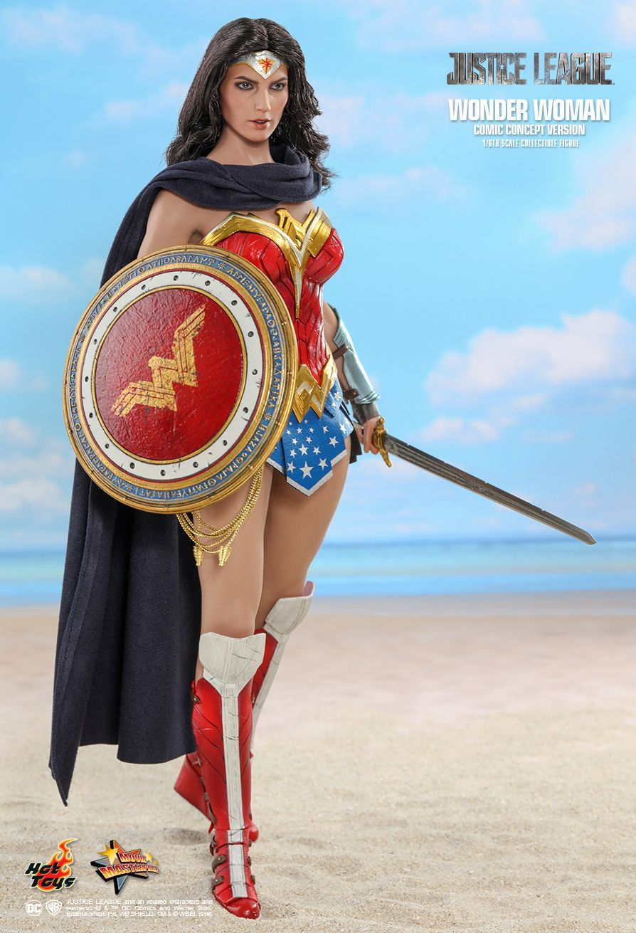 NEW PRODUCT: HOT TOYS: JUSTICE LEAGUE WONDER WOMAN (COMIC CONCEPT VERSION) 1/6TH SCALE COLLECTIBLE FIGURE 4102