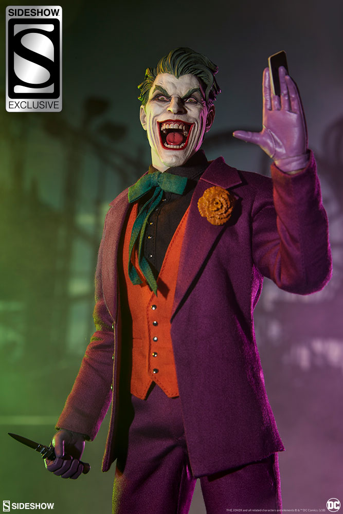 batman - NEW PRODUCT: SIDESHOW COLLECTIBLES: The Joker Sixth Scale Figure (Exclusive Laughing Head Sculpt) 4114
