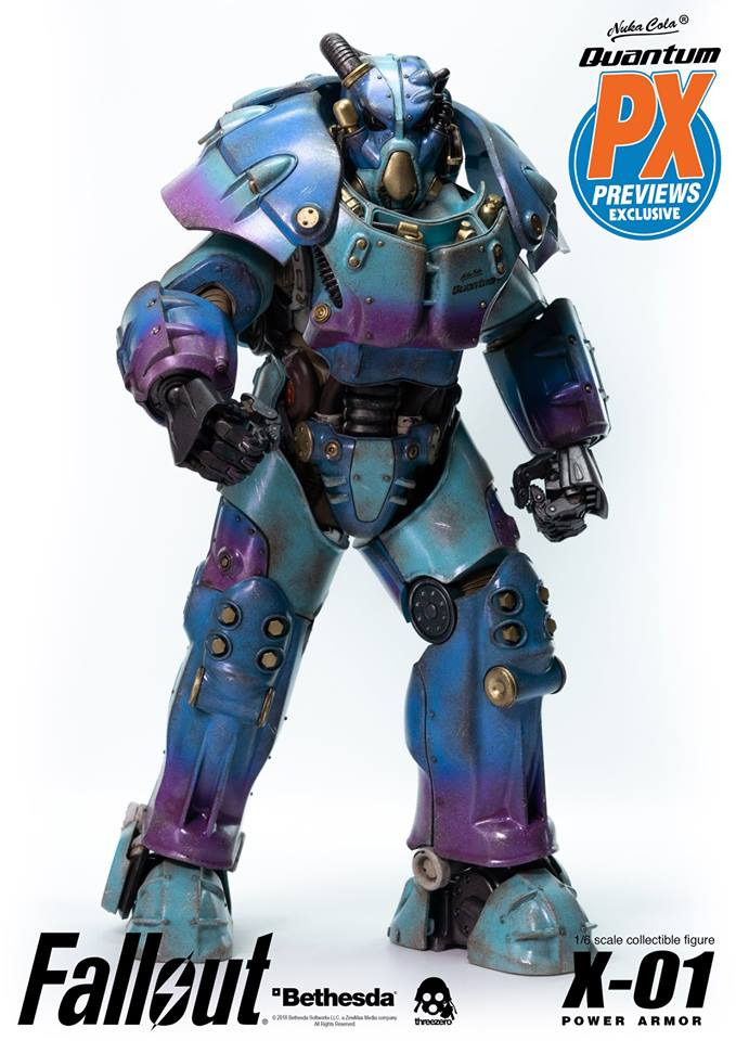 "Fallout - NEW PRODUCT: Three Zero Exclusive 1/6th scale X-01 ""Quantum"" Power Armor 14.5-inch Figure Set 4128"