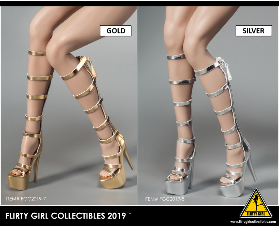 highheels - NEW PRODUCT: FLIRTY GIRL COLLECTIBLES 2019: 1 / 6 women's high heels four Fashion Boots & FGC2019-9 and -10 women's shoes 4163